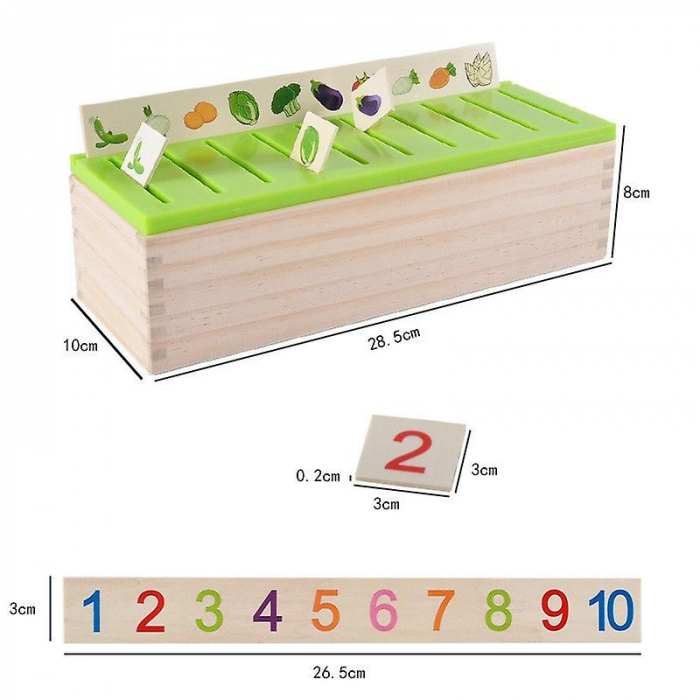 Joc Montessori de sortare și asociere imagini - Knowledge classification box [2]