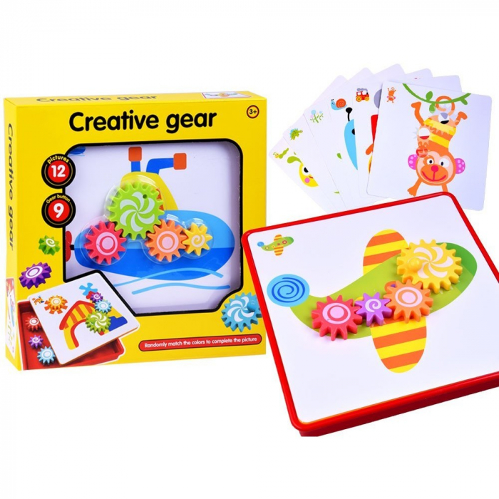 Joc creativ și de motricitate roți zimțate - Creative Gear [0]