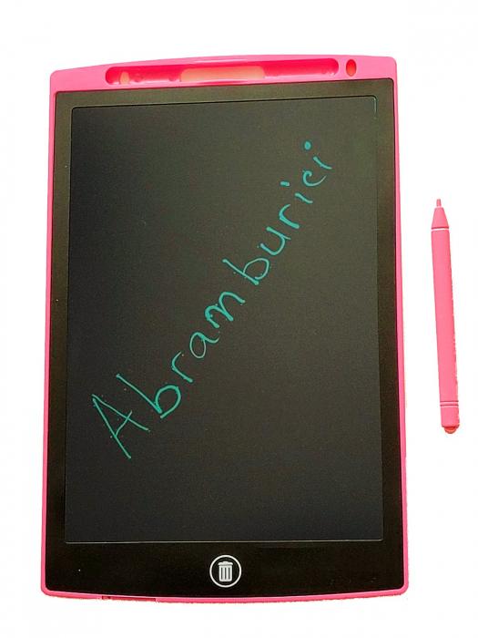 Tabletă LCD electronică 10 inch - Scrie și șterge- culoarea roz [1]