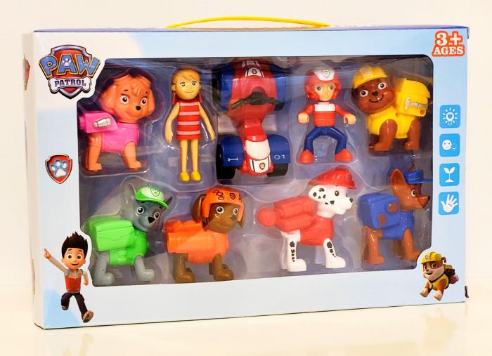 Set 9 figurine Patrula Catelușilor cu Katie și Rider [0]