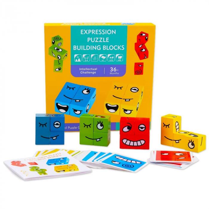 Joc de tip Puzzle Expresii faciale - Expression puzzle building blocks [0]