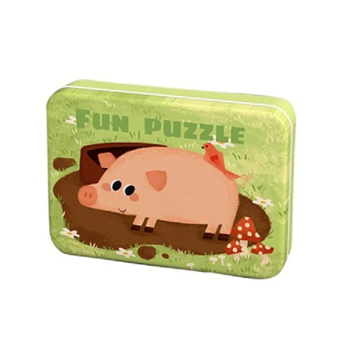 Puzzle în cutie metalică ANIMALE DOMESTICE - FUN PUZZLE [0]