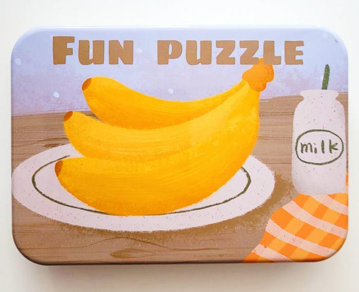 Puzzle în cutie metalică FRUCTE ȘI LEGUME - FUN PUZZLE [0]