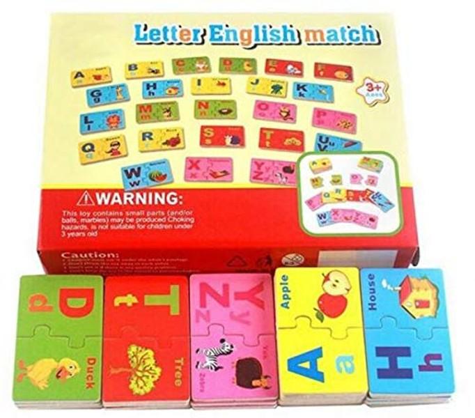 Joc de asociere din lemn tip puzzle alfabetul în limba engleză LETTER ENGLISH MATCH [2]