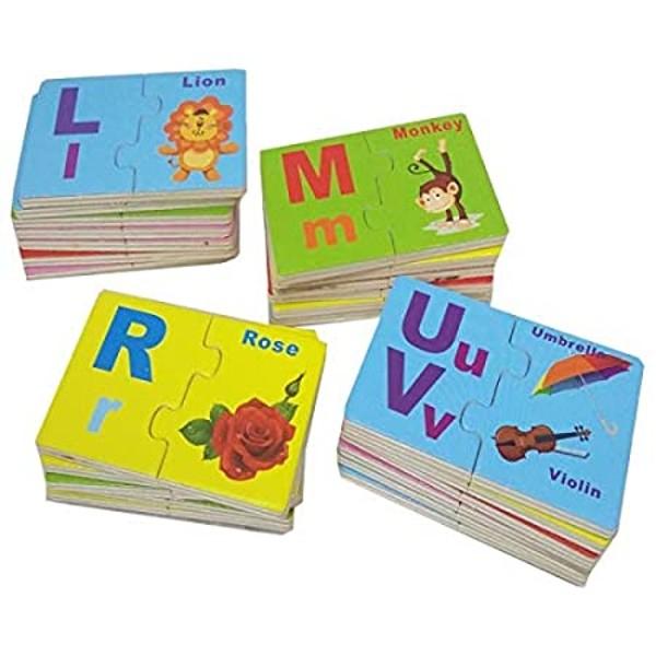 Joc de asociere din lemn tip puzzle alfabetul în limba engleză LETTER ENGLISH MATCH [3]