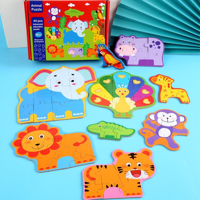 Puzzle animale sălbatice 44 piese - Animal Puzzle [0]