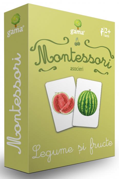 Cărți de joc Montessori -Asocieri LEGUME ȘI FRUCTE [0]