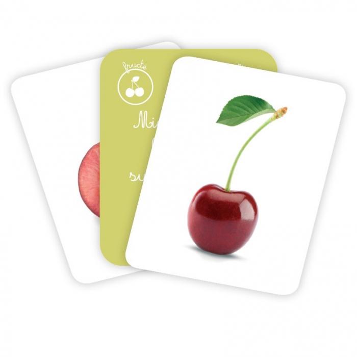 Cărți de joc Montessori -Asocieri LEGUME ȘI FRUCTE [3]