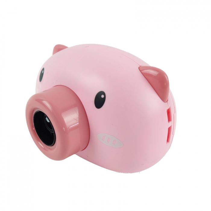 Aparat foto de jucărie de făcut baloane de săpun -design purceluș roz [1]