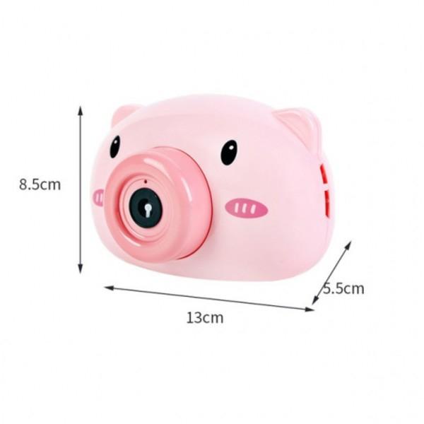 Aparat foto de jucărie de făcut baloane de săpun -design purceluș roz [3]