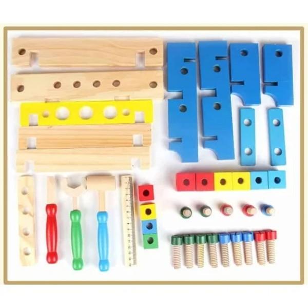 BANC DE LUCRU din lemn - Combines the tool [3]