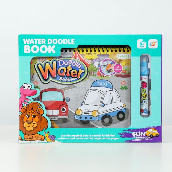 Carte de colorat cu apă  reutilizabilă Water Doodle Book - MAȘINI [0]