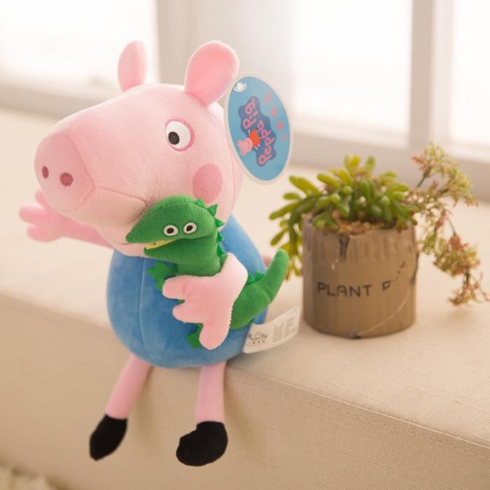 Figurină din pluş PURCELUŞUL GEORGE - PEPPA PIG 40 cm [0]