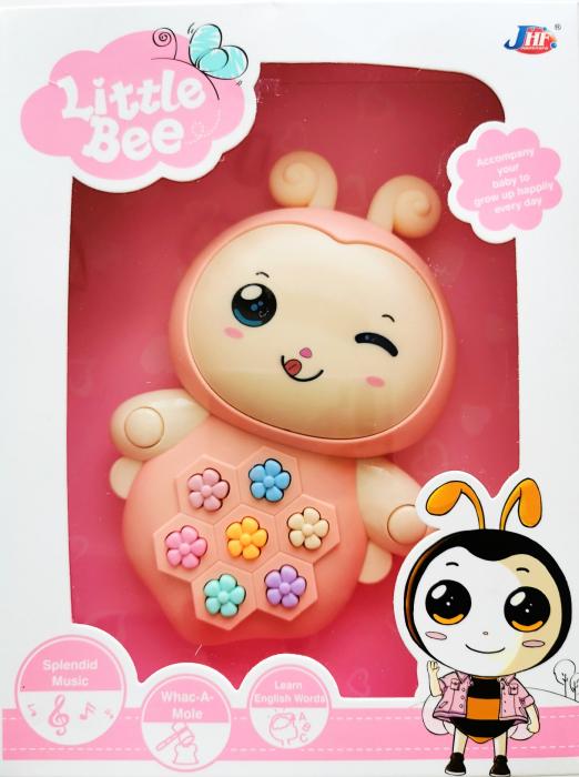 Jucărie interactivă cu sunete şi lumini design albinuţă roz [0]