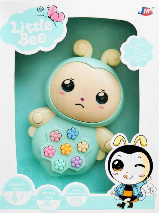 Jucărie interactivă cu sunete şi lumini design albinuţă verde mint [0]