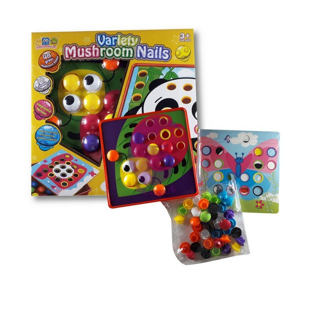 Joc creativ mozaic cu butoni Variety Mushroom Nails [1]