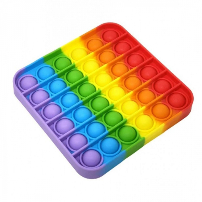 Jucărie senzorială POP IT multicoloră, formă pătrată [0]