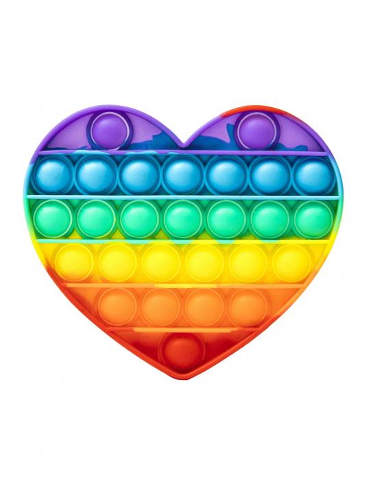 Jucărie senzorială POP IT multicoloră, formă inimioară [0]