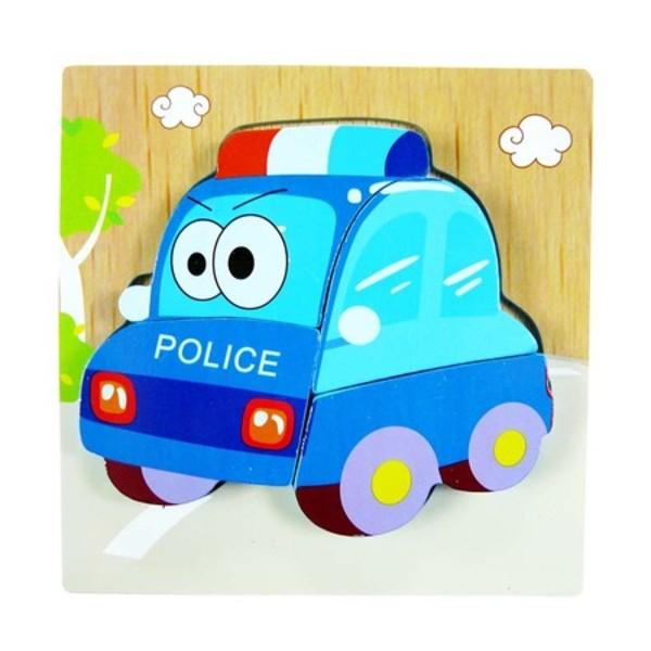 Puzzle mic lemn în relief MASINĂ DE POLIŢIE [0]