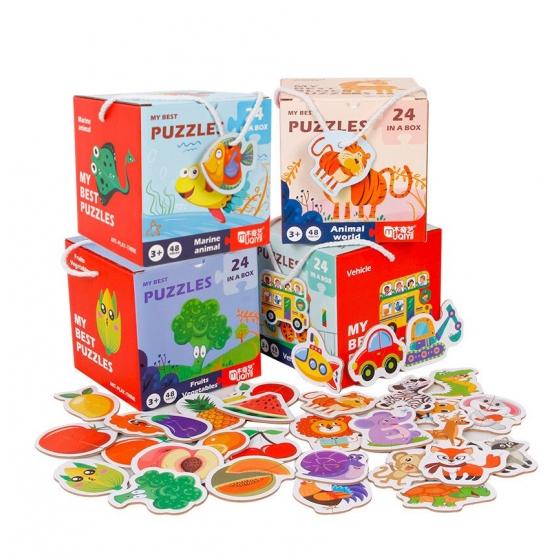 Set 24 puzzle din 2 bucăţi- FRUCTE ŞI LEGUME-MY BEST PUZZLES 24 IN A BOX FRUITS VEGETABLES [1]