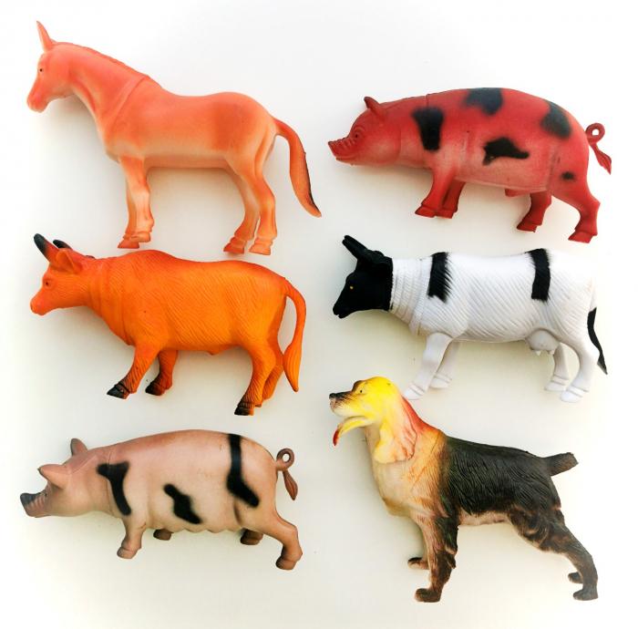 Set 6 figurine ANIMALE DE LA FERMĂ [0]