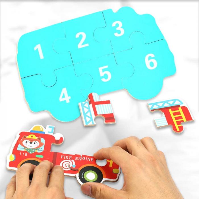 Set 6 puzzle in cutie metalică- mijloace de transport-TRAFFIC [1]