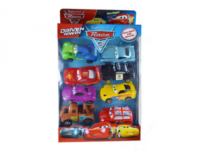 Set 8 maşinuţe din plastic High Speed Cars [0]