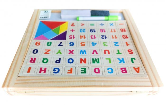 Tablă de scris pliabilă din lemn cu 2 feţe [2]