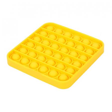 Jucărie senzorială POP IT culoare galbenă, formă pătrată [1]