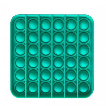 Jucărie senzorială POP IT culoare verde, formă pătrată [0]