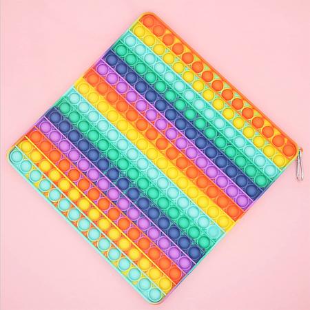 Jucărie senzorială POP IT uriaș, multicolor, formă pătrată, 225 bule [0]