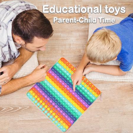 Jucărie senzorială POP IT uriaș, multicolor, formă pătrată, 225 bule [1]