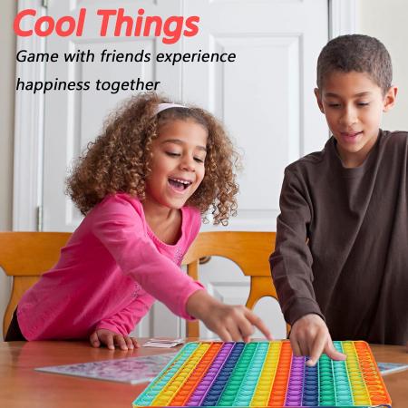 Jucărie senzorială POP IT uriaș, multicolor, formă pătrată, 225 bule [2]