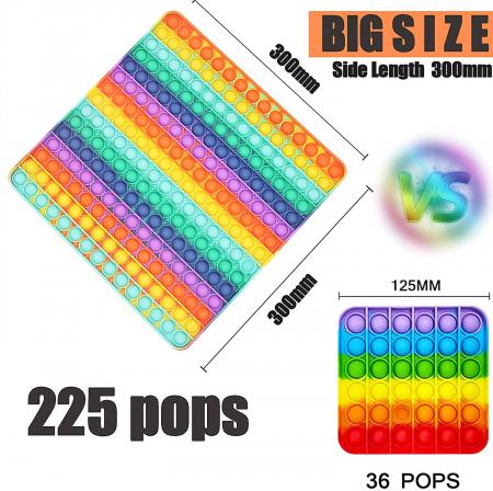 Jucărie senzorială POP IT uriaș, multicolor, formă pătrată, 225 bule [5]