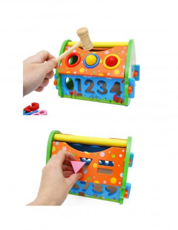 Căsuţă multifuncţională din lemn cu sortator de forme [1]