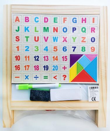 Tablă de scris pliabilă din lemn cu 2 feţe [0]