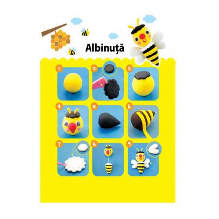Plastilină elastică Mini Clay ICLAY AMOS - ALBINUŢĂ 30 gr/cutie [1]