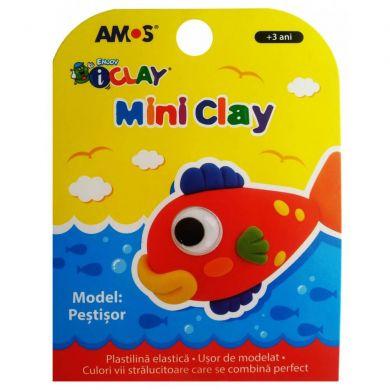 Plastilină elastică Mini Clay ICLAY AMOS - PEŞTIŞOR 30 gr/cutie [0]