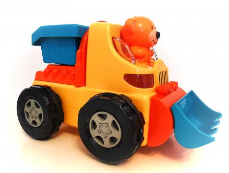 Jucărie ursuleţ in maşină tip basculantă, cu sunete şi lumini [0]