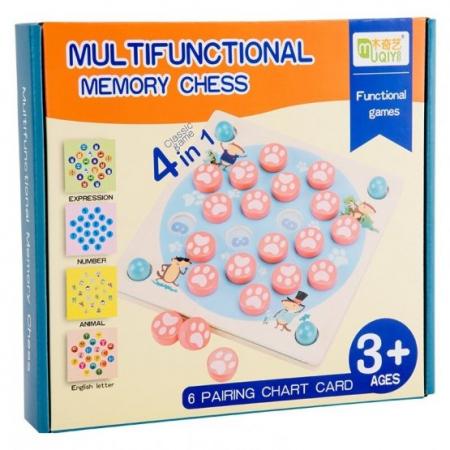 Joc de memorie din lemn MULTIFUNCTIONAL MEMORY CHESS 4 in 1 [1]