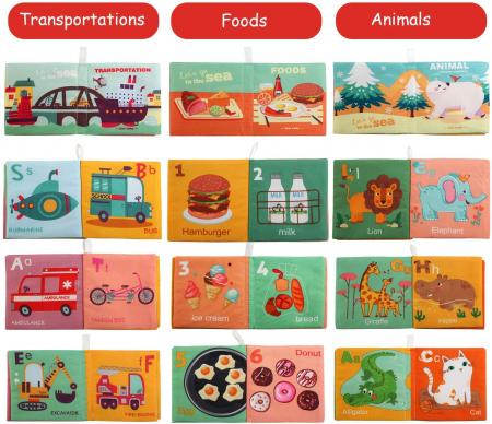 Set 6 cărticele textile cu pagini foşnăitoare pentru bebeluşi [1]