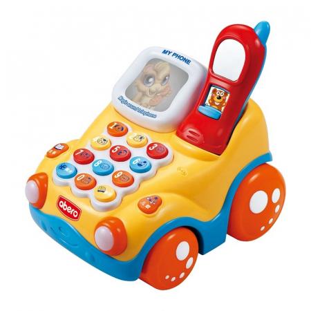 Jucărie interactivă telefon maşinuţă de tras cu sunete şi lumini Abero [0]