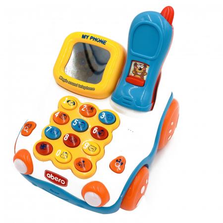Jucărie interactivă telefon maşinuţă de tras cu sunete şi lumini Abero [1]