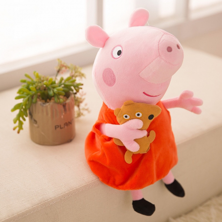 Figurină din pluş PURCELUŞA PEPPA - PEPPA PIG 40 cm [0]