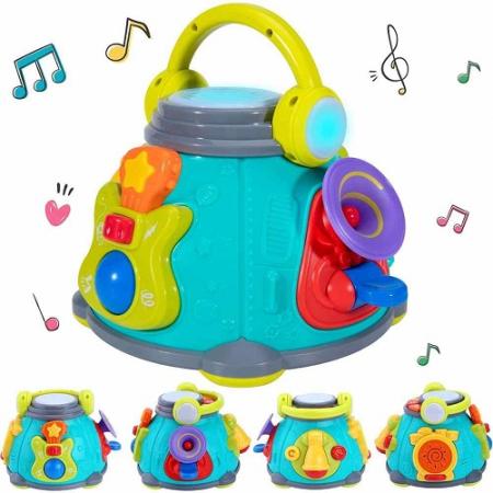 Stație muzicală Karaoke interactivă Hola -Little karaoke Space Capsule Activity toy [1]