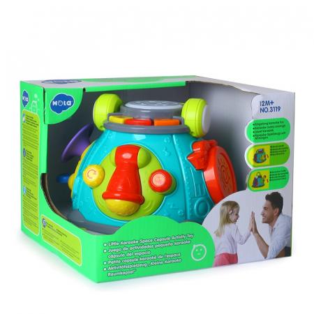Stație muzicală Karaoke interactivă Hola -Little karaoke Space Capsule Activity toy [0]