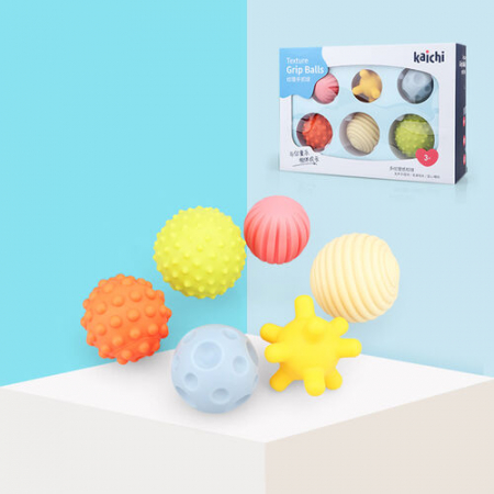 Bile moi senzoriale pentru bebeluși Kaichi - Multi texture perception ball [1]