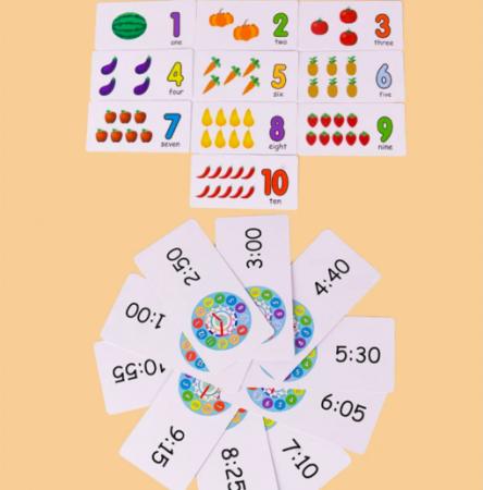 Joc din lemn 2 în 1 ceas și calcule matematice TWO IN ONE DIGITAL CLOCK [3]