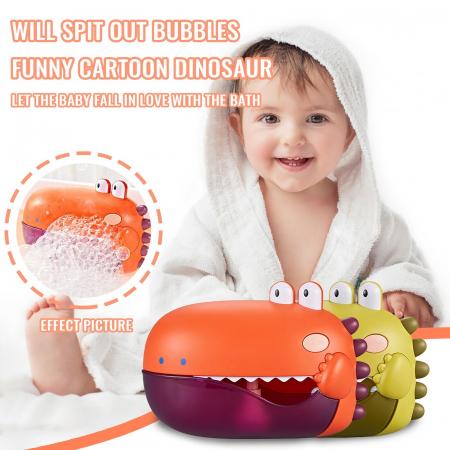 Jucărie de făcut baloane de săpun pentru baie cu sunete design crocodil verde [1]