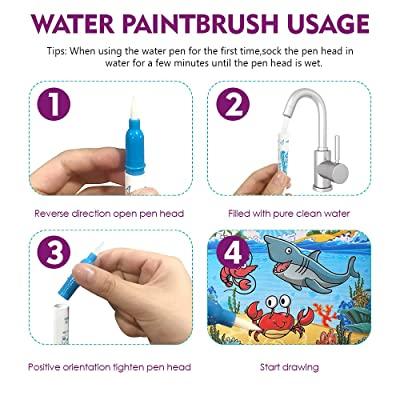 Carte reutilizabilă de colorat cu apă Doodle Water Book- animale marine [1]